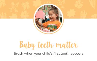 Baby teeth matter