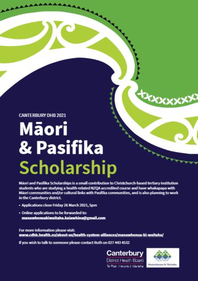 Maori and Pasifika Scholarship