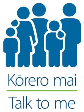 Kōrero mai - Talk to me logo